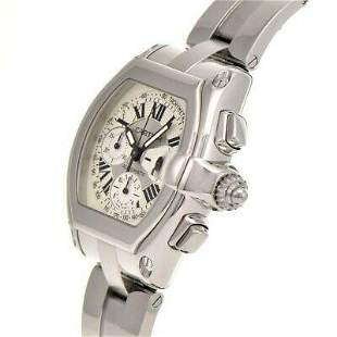 Authentic Cartier Roadster Chronograph W62019X6 Silver