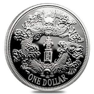 2018 1 oz Silver Chinese Tientsin Dragon Dollar Proof