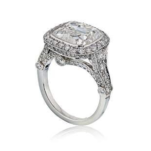 Authentic Tiffany & Co. Legacy 5 carat Cushion Cut