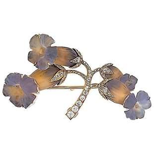Authentic Rene Lalique Art Nouveau Opalescent Glass and