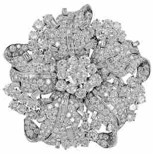 Authentic Bulgari Diamond Platinum Brooch