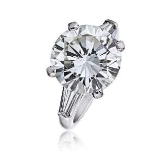 Authentic Tiffany & Co. 7 carat Round Diamond I/VS2 GIA