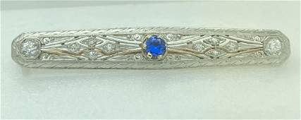 Antique 18K & 14K Gold Art Deco Filigree Diamond &