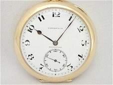 Authentic TIFFANY AGASSIZ double name pocket watch