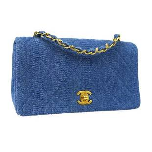 Authentic CHANEL Full Flap Quilted CC Chain Shoulder