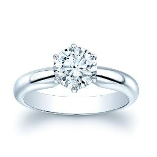 Diamond Round Solitaire 6-prong Engagement Ring In