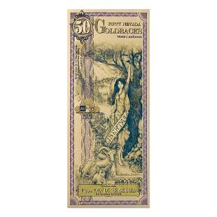 50 Nevada Goldbacks 1/20 oz 24K Gold Foil Aurum Note