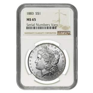 1878-1904 Morgan Silver Dollar $1 NGC MS 65 (Random