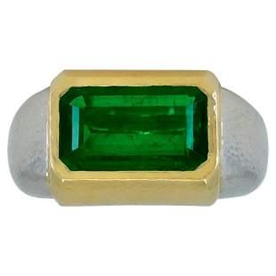 Authentic David Webb 5.41 Carat Emerald Platinum