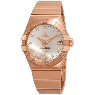 Authentic Omega Constelation Co-Axial Red Gold Diamond