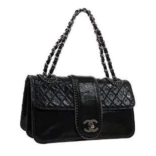 Authentic CHANEL Quilted Double Chain Hand Bag 11347038