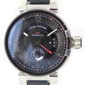 Authentic Louis Vuitton Tambour Evolution GMT Q1156