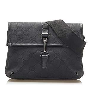 Authentic Gucci GG Canvas Jackie Belt Bag