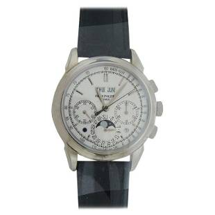 Authentic Patek Philippe White Gold Grand Complications
