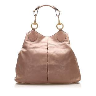 Authentic Gucci Horsebit Leather Tote Bag