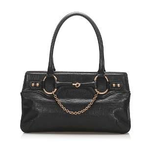 Authentic Gucci Horsebit Leather Handbag