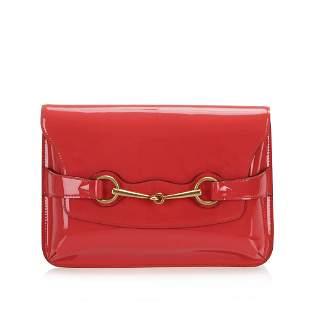 Authentic Gucci Horsebit Patent Leather Crossbody Bag