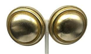 Authentic Diane Von Furstenberg Gold Round Button