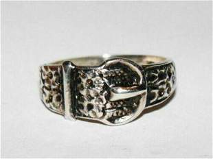 Victorian Etched Buckle Ring