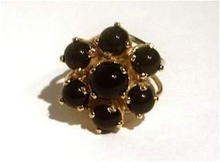 Sterling Silver 18 kt Gold Vermeil Flower Cocktail Ring