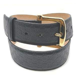 Authentic Gucci Belt  Black Browns Leather