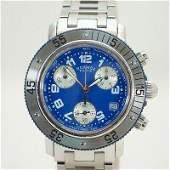 Authentic Hermes Clipper Divers Chronograph CL2.317 SS