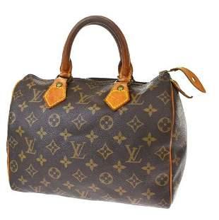Authentic LOUIS VUITTON Speedy 25 Hand Bag Monogram