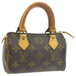 Authentic LOUIS VUITTON MINI SPEEDY 2WAY HAND BAG PURSE