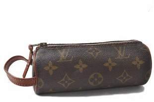 Authentic Louis Vuitton Monogram Trousse Ronde Pen Case