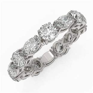 3.64 ctw Diamond Designer Eternity Ring 18K White Gold