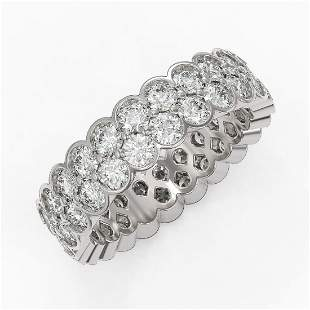 3.5 ctw Diamond Designer Eternity Ring 18K White Gold
