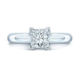 Princess Cut Diamond Solitaire Engagement Ring In