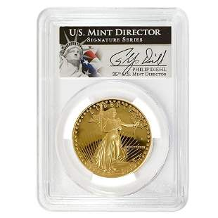 1988 W 1 oz $50 Proof Gold American Eagle PCGS PF 70
