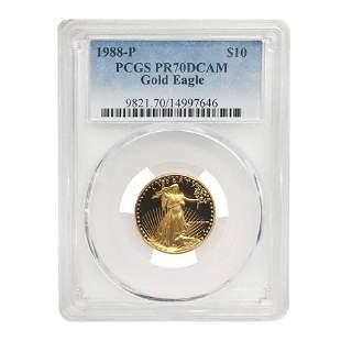 1988 P 1/4 oz $10 Proof Gold American Eagle PCGS PF 70