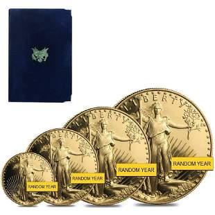 Gold 1.85 oz American Eagle Proof 4-Coin Set (Random