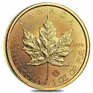 2021 1 oz Canadian Gold Maple Leaf $50 Coin .9999 Fine