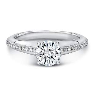 Diamond Engagement Ring In 14k White Gold (1.01ct J/vs2