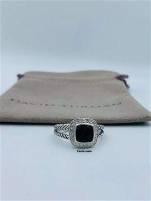 David Yurman Sterling Silver Black Onyx & Diamond