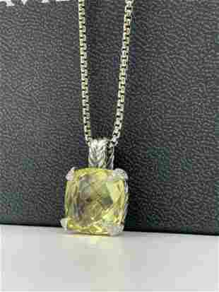 DAVID YURMAN 14mm Chatelaine Pendant Necklace Lemon