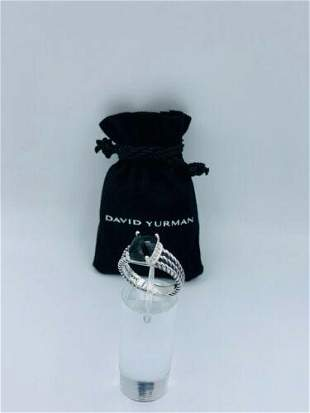 David Yurman Sterling Silver Petite Black Onyx &