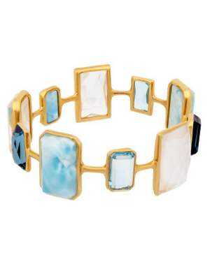 Ippolita Rock Candy Newport Blue Quartz  Topaz  Mother