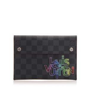 Authentic Louis Vuitton Damier Graphite Alpha Triple