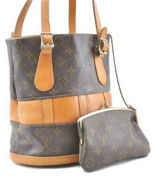 Authentic Louis Vuitton Monogram Bucket PM Shoulder Bag