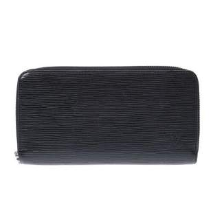 Authentic LOUIS VUITTON Epi Zippy wallet black M60072