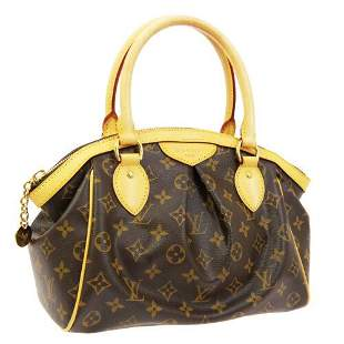 Authentic LOUIS VUITTON TIVOLI PM HAND TOTE BAG AR2098