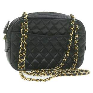 Authentic CHANEL Lamb Skin Matelasse Chain Shoulder Bag