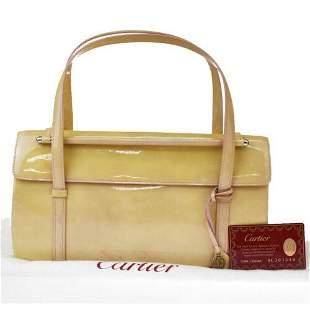 Authentic Cartier 2C Logo Cabochon Hand Bag Charm