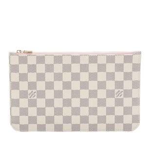 Authentic Louis Vuitton Damier Azur Neverfull MM Pouch