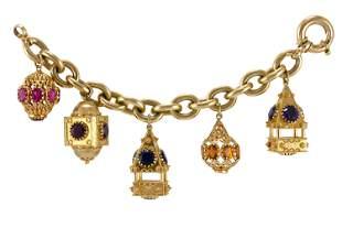 Authentic Five Charm Synthetic Multigem Bracelet