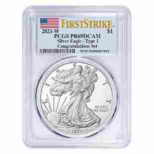 2021-W 1 oz Proof Silver American Eagle Congratulations